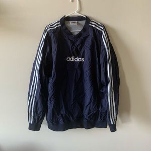 Vintage adidas 3 stripe classic lined pullover